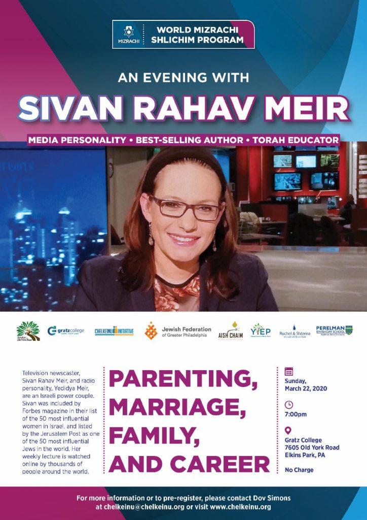 An Evening with Sivan Rahav Meir March 22, 2020